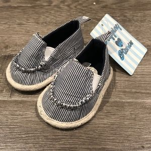 NEW Stepping Stones Canvas Striped Slip On Shoes